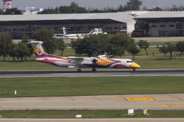 しかばねさんが、ドンムアン空港で撮影したノックエア DHC-8-402Q Dash 8の航空フォト(飛行機 写真・画像)