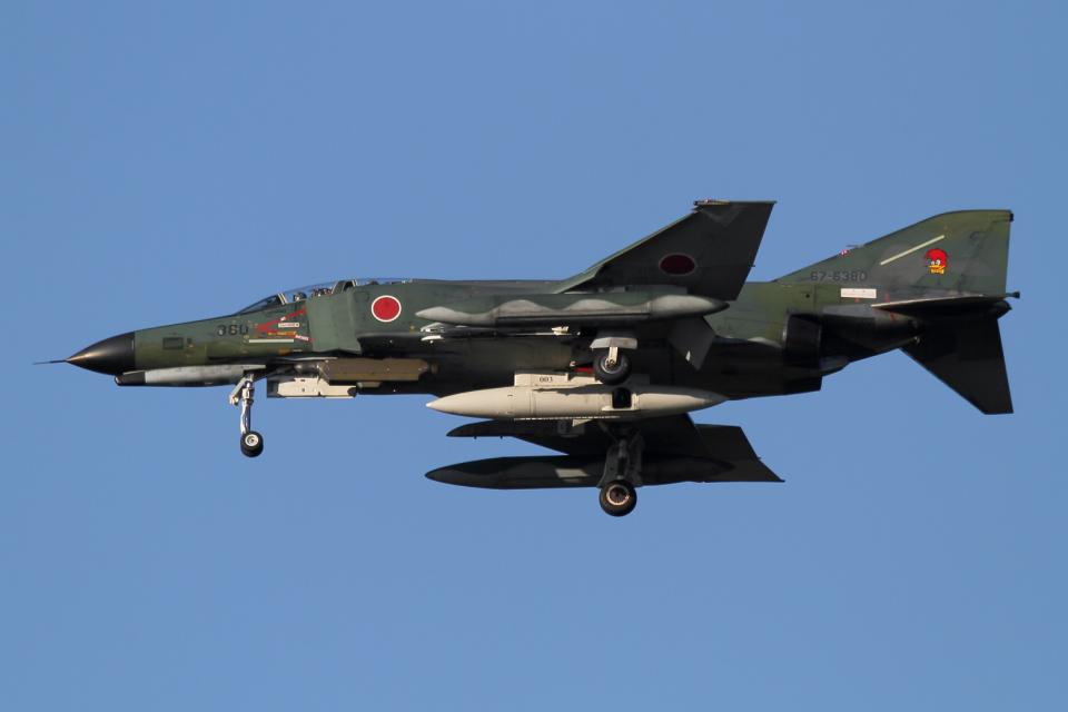 西風さんの航空自衛隊 Mitsubishi RF-4EJ Phantom II (67-6380) 航空フォト