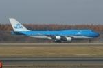 北の熊さんが、新千歳空港で撮影したKLMオランダ航空 747-406Mの航空フォト(写真)