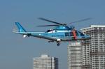 あきらっすさんが、東京臨海広域防災公園ヘリポートで撮影した神奈川県警察 AW109SPの航空フォト(写真)