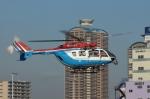 あきらっすさんが、東京臨海広域防災公園ヘリポートで撮影した川崎市消防航空隊 BK117C-2の航空フォト(写真)