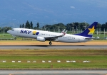 じーく。さんが、鹿児島空港で撮影したスカイマーク 737-8HXの航空フォト(写真)
