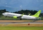 じーく。さんが、鹿児島空港で撮影したソラシド エア 737-86Nの航空フォト(飛行機 写真・画像)