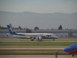 hana父さんが、ノーマン・Y・ミネタ・サンノゼ国際空港で撮影した全日空 787-8 Dreamlinerの航空フォト(飛行機 写真・画像)