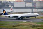 mojioさんが、羽田空港で撮影したルフトハンザドイツ航空 A340-642の航空フォト(飛行機 写真・画像)