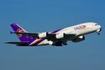 RUSSIANSKIさんが、スワンナプーム国際空港で撮影したタイ国際航空 A380-841の航空フォト(飛行機 写真・画像)