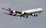 VICTER8929さんが、スワンナプーム国際空港で撮影したタイ国際航空 A340-642の航空フォト(写真)