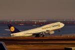 うめやしきさんが、羽田空港で撮影したルフトハンザドイツ航空 747-830の航空フォト(写真)