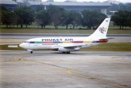 amagoさんが、ドンムアン空港で撮影したプーケット航空 737-281の航空フォト(飛行機 写真・画像)