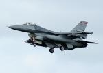 じーく。さんが、嘉手納飛行場で撮影したアメリカ空軍 F-16 Fighting Falconの航空フォト(飛行機 写真・画像)