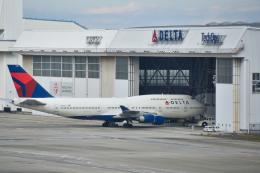 パンダさんが、成田国際空港で撮影したデルタ航空 747-451の航空フォト(飛行機 写真・画像)