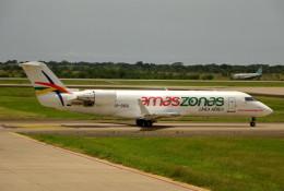 さくらの城南山。さんが、ビルビル国際空港で撮影したアマスゾナス CL-600-2B19(CRJ-200LR)の航空フォト(飛行機 写真・画像)