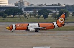 えるあ~るさんが、ドンムアン空港で撮影したノックエア 737-83Nの航空フォト(飛行機 写真・画像)