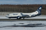 北の熊さんが、新千歳空港で撮影したオーロラ 737-548の航空フォト(飛行機 写真・画像)