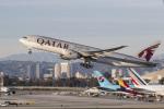 LAX Spotterさんが、ロサンゼルス国際空港で撮影したカタール航空 777-2DZ/LRの航空フォト(写真)
