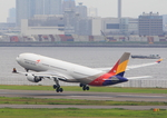 ふじいあきらさんが、羽田空港で撮影したアシアナ航空 A330-323Xの航空フォト(飛行機 写真・画像)