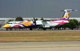 VICTER8929さんが、ドンムアン空港で撮影したノックエア DHC-8-402Q Dash 8の航空フォト(飛行機 写真・画像)