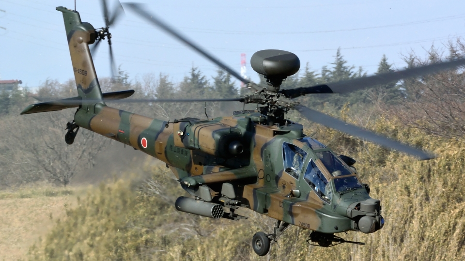 santaさんの陸上自衛隊 Fuji AH-64D (74508) 航空フォト