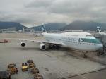 シフォンさんが、香港国際空港で撮影したキャセイパシフィック航空 747-467の航空フォト(写真)