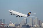 mogusaenさんが、羽田空港で撮影したルフトハンザドイツ航空 A340-642の航空フォト(飛行機 写真・画像)