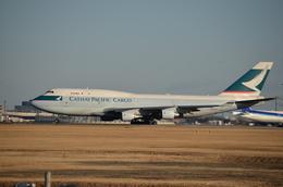 ウッディさんが、成田国際空港で撮影したキャセイパシフィック航空 747-412(BCF)の航空フォト(飛行機 写真・画像)