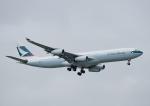 じーく。さんが、台湾桃園国際空港で撮影したキャセイパシフィック航空 A340-313Xの航空フォト(飛行機 写真・画像)