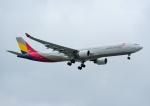 じーく。さんが、台湾桃園国際空港で撮影したアシアナ航空 A330-323Xの航空フォト(飛行機 写真・画像)
