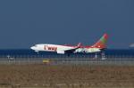 T.Sazenさんが、関西国際空港で撮影したティーウェイ航空 737-8HXの航空フォト(飛行機 写真・画像)