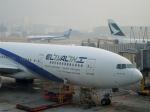 ハピネスさんが、香港国際空港で撮影したエル・アル航空 777-258/ERの航空フォト(飛行機 写真・画像)