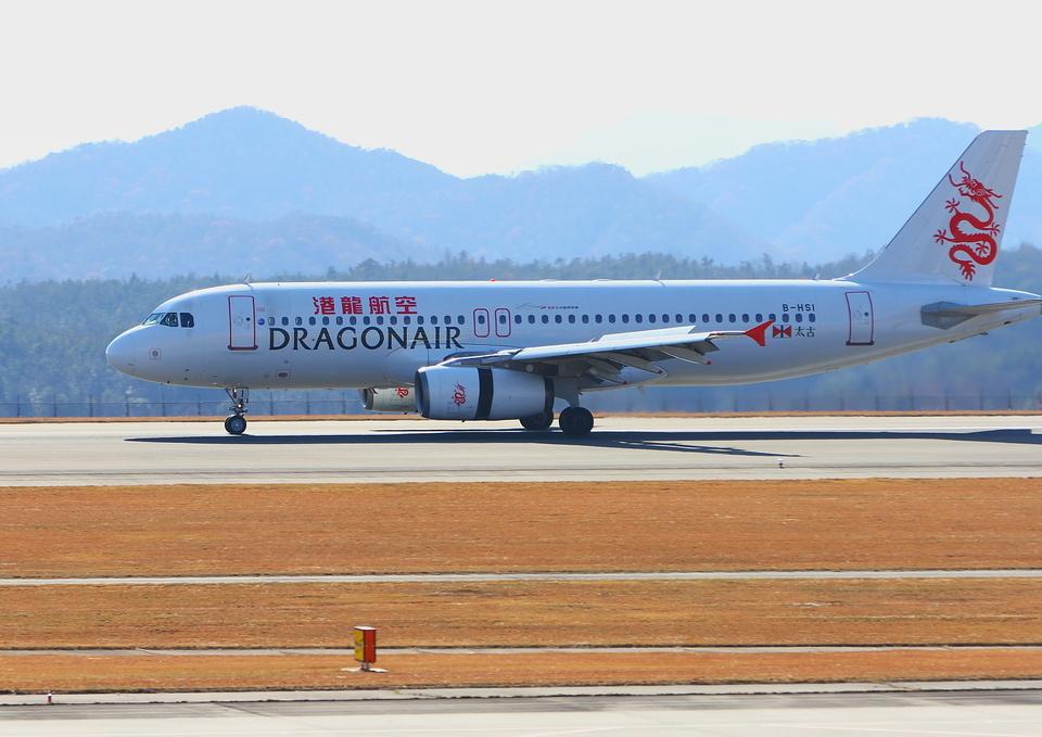 ふじいあきらさんの香港ドラゴン航空 Airbus A320 (B-HSI) 航空フォト