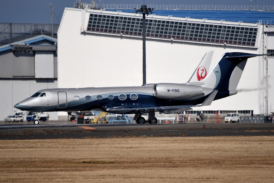 tsubasa0624さんのマン島企業所有 Gulfstream Aerospace G350/G450 (M-PING) 航空フォト