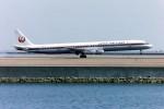電車の運転士さんが、羽田空港で撮影した日本航空 DC-8-61の航空フォト(写真)