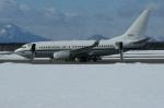 北の熊さんが、新千歳空港で撮影したアメリカ海軍 C-40A Clipper (737-7AFC)の航空フォト(写真)
