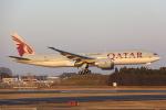 安芸あすかさんが、成田国際空港で撮影したカタール航空 777-2DZ/LRの航空フォト(写真)