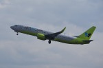 tsubasa0624さんが、関西国際空港で撮影したジンエアー 737-8SHの航空フォト(飛行機 写真・画像)