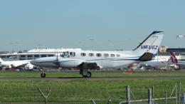 誘喜さんが、シドニー国際空港で撮影したコーポレート・エアクラフト・カンパニー 441 Conquest IIの航空フォト(飛行機 写真・画像)