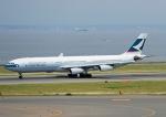 じーく。さんが、中部国際空港で撮影したキャセイパシフィック航空 A340-313Xの航空フォト(飛行機 写真・画像)