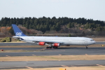 ATOMさんが、成田国際空港で撮影したスカンジナビア航空 A340-313Xの航空フォト(飛行機 写真・画像)
