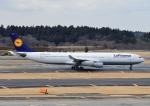 じーく。さんが、成田国際空港で撮影したルフトハンザドイツ航空 A340-313Xの航空フォト(写真)