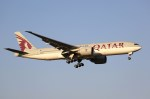 NRT_roseさんが、成田国際空港で撮影したカタール航空 777-2DZ/LRの航空フォト(写真)