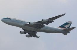 camelliaさんが、香港国際空港で撮影したキャセイパシフィック航空 747-412(BCF)の航空フォト(飛行機 写真・画像)