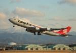 ケロさんが、小松空港で撮影したカーゴルクス 747-8R7F/SCDの航空フォト(写真)