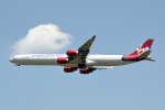ぎんじろーさんが、成田国際空港で撮影したヴァージン・アトランティック航空 A340-642の航空フォト(写真)