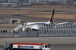 tsubasa0624さんが、名古屋飛行場で撮影した三菱航空機 MRJ90STDの航空フォト(飛行機 写真・画像)