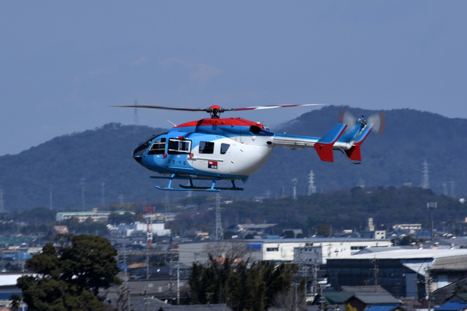 tsubasa0624さんの中日新聞社 Kawasaki BK117 (JA05CP) 航空フォト