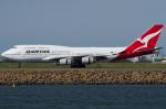 よっしぃさんが、シドニー国際空港で撮影したカンタス航空 747-438の航空フォト(写真)