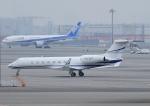 じーく。さんが、羽田空港で撮影した不明 G-V-SP Gulfstream G550の航空フォト(飛行機 写真・画像)
