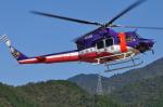 へりさんが、岐阜県美濃市(場外)で撮影した岐阜県防災航空隊 412EPの航空フォト(写真)