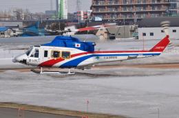 へりさんが、札幌飛行場で撮影した国土交通省 北海道開発局 412EPの航空フォト(写真)