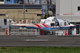 へりさんが、東京ヘリポートで撮影した三重県防災航空隊 412の航空フォト(写真)
